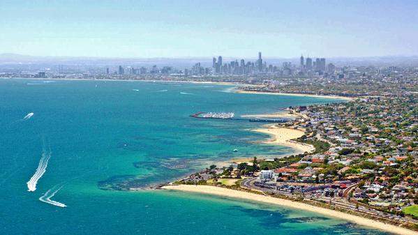 Прекрасная погода сегодня в Мельбурне.