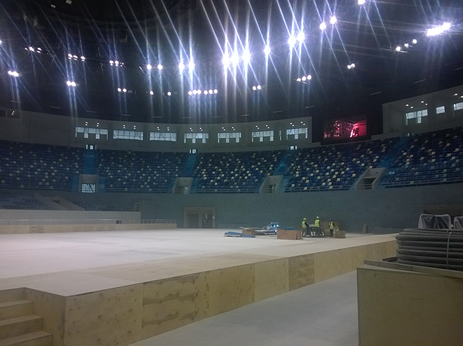 Арена имени Гейдара Алиева готова принять соревнования по дзюдо, борьбе и самбо
