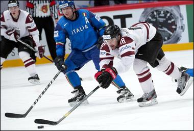 8 мая 2012 года. Стокгольм. Чемпионат мира. Групповой турнир. Латвия — Италия — 5:0