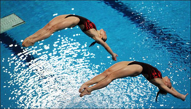 Женские синхронные прыжки. Наш вид, где мы претендует на медали