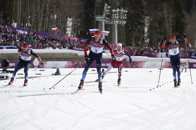 Золотой финиш в лыжном масс-старте
