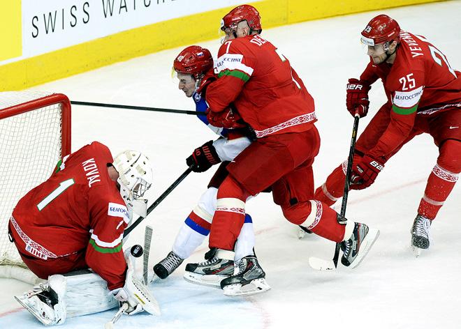 20 мая 2014 года. Минск. Чемпионат мира. Групповой этап. Россия — Белоруссия — 2:1