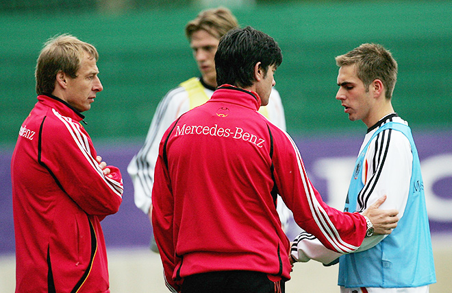 Чемпионат мира — 2006. Юрген Клинсман, Йоахим Лёв и 22-летинй Филипп Лам