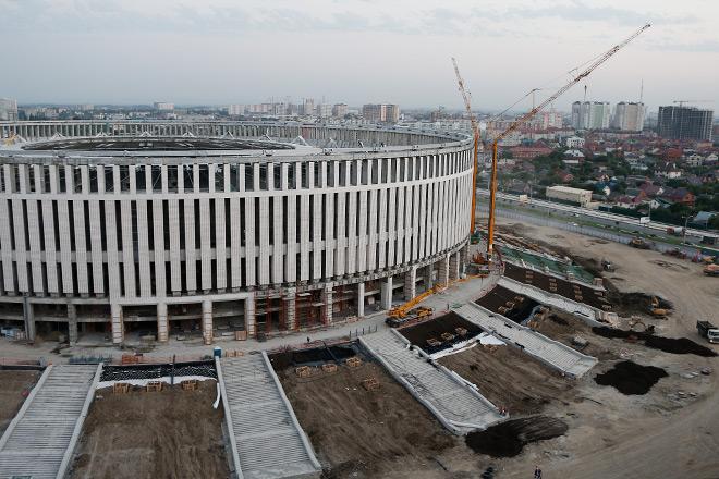 Строительство нового стадиона «Краснодара»