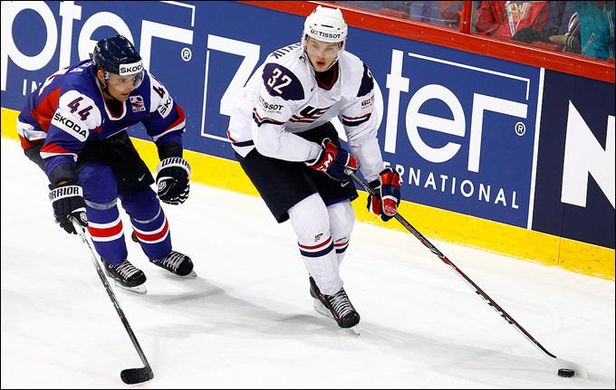 Алекс Гальченюк в своём первом матче на чемпионате мира против Словакии