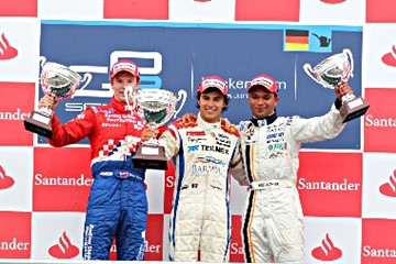 Подиум на этапе GP2 в Германии в 2010 году