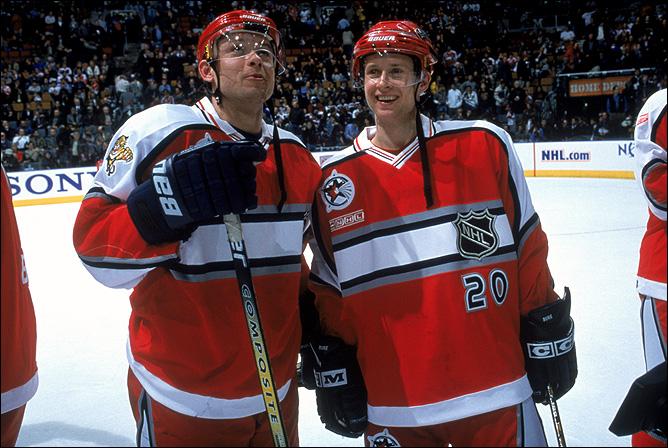 Фрагменты сезона. 6 февраля 2000 года. Торонто. Матч Всех звезд НХЛ. Павел и Валерий Буре.