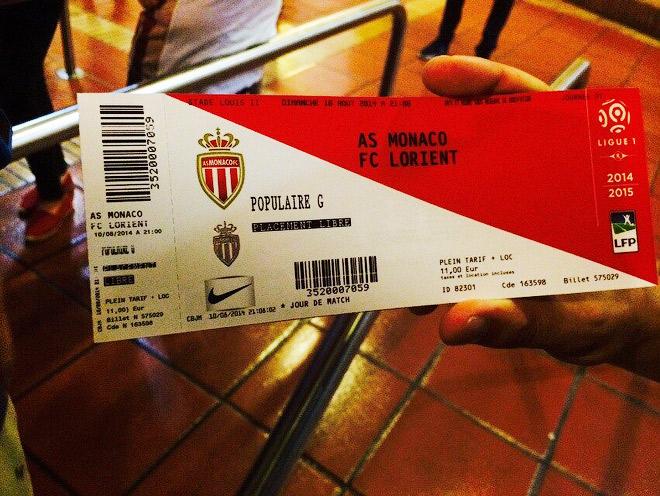 Билет на матч «Монако» — «Лорьян»