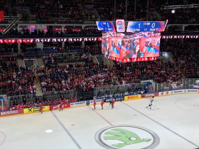 Сборная России выходит вперёд