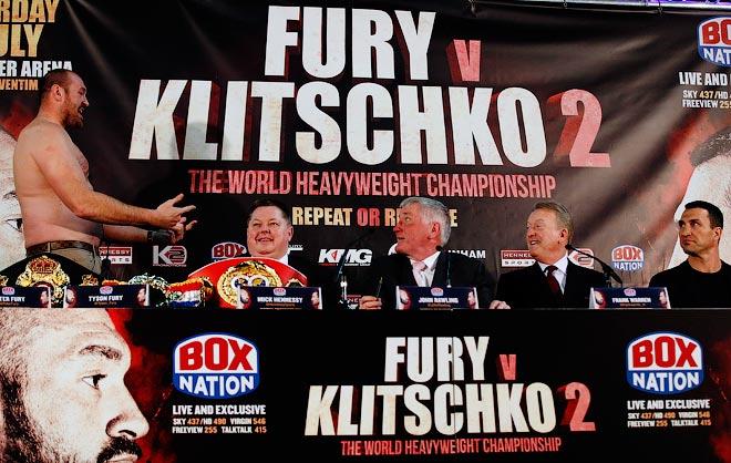 Фьюри и Кличко на пресс-конференции