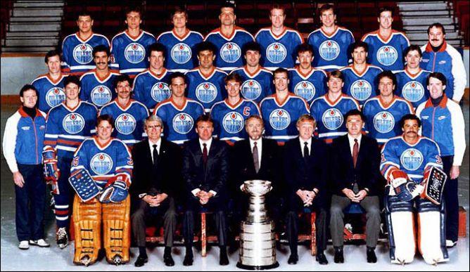 "Обладатели Кубка Стэнли 1985 года - ""Эдмонтон Ойлерз""."