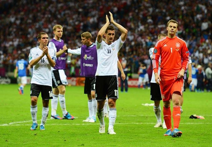 Сборная Германии после поражения в полуфинале