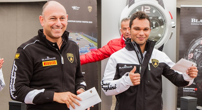 Адриан Цаугг в Lamborgini Super Trofeo