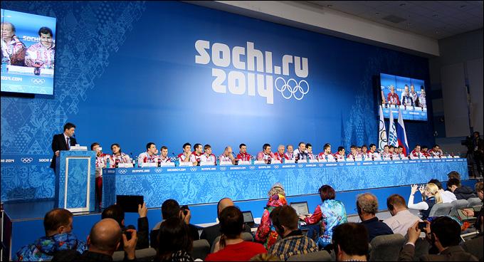 Пресс-конференция сборной России
