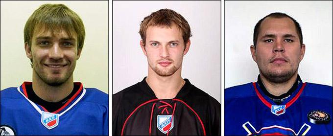 Слева направо: Михаил Климчук, Сергей Елизаров и Алексей Анисимов