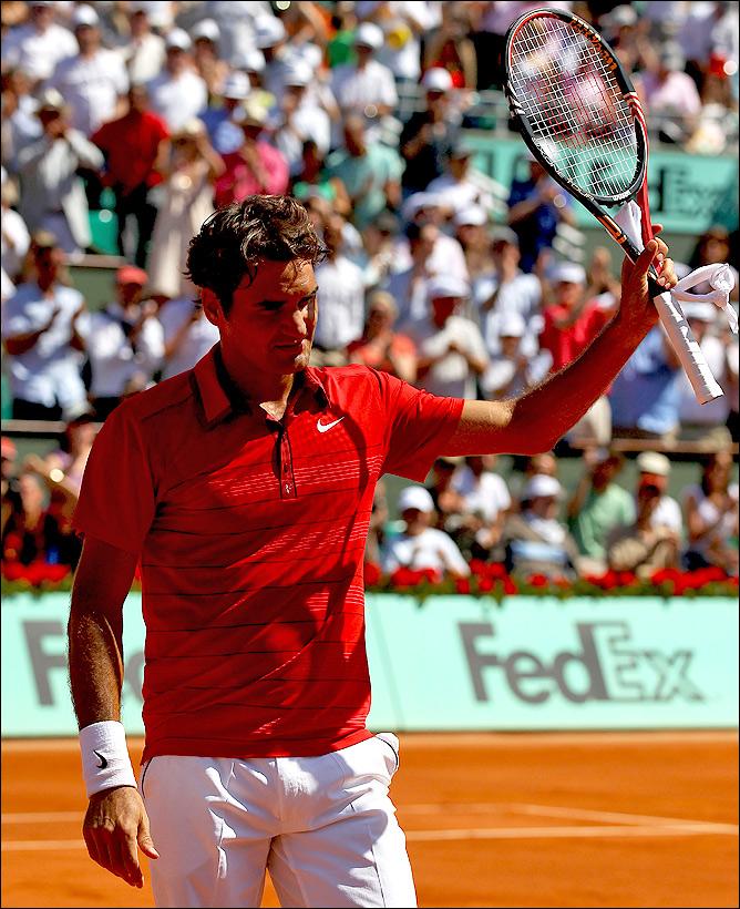 Роджер легко идёт по турнирной сетке