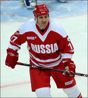 Александр Харламов в матче ветеранов отечественного хоккея