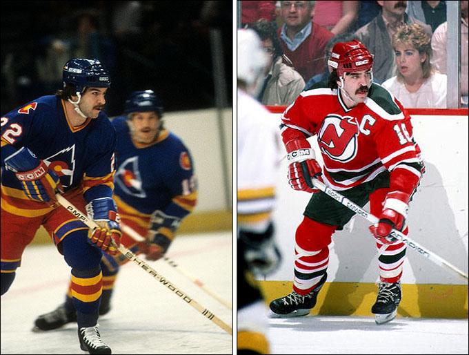 """Слева — 1981 год и """"Колорадо Рокиз"""", справа — 1982 год и """"Нью-Джерси Дэвилз"""""""