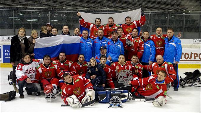 Российские следж-хоккеисты выиграли турнир в Италии