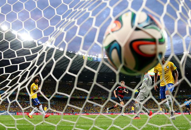 ЧМ-2014. 1/2 финала. Бразилия – Германия – 1:7. Мяч редко покидал ворота сборной Бразилии…