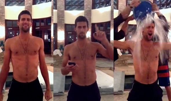 Джокович и другие игроки приняли участие в Ice Bucket Challenge