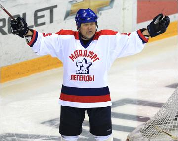 Федор Канарейкин в матче ветеранов