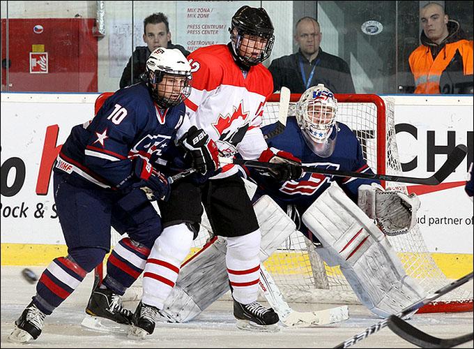 17 апреля 2012 года. Брно. Юниорский чемпионат мира. США — Канада — 5:3