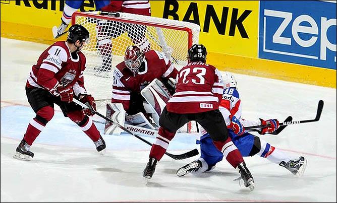 16.05.2010. ЧМ-2010. Латвия - Норвегия - 5:0. Фото 01.