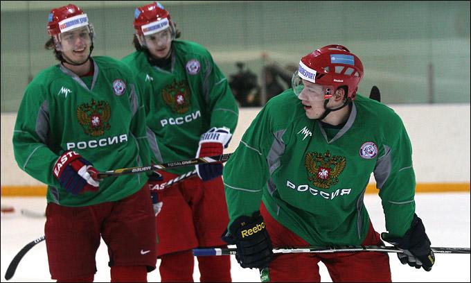 Владимир Тарасенко на тренировке сборной России