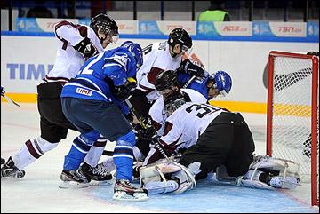 26 декабря 2012 года. Уфа. Молодежный чемпионат мира. Латвия — Финляндия — 1:5