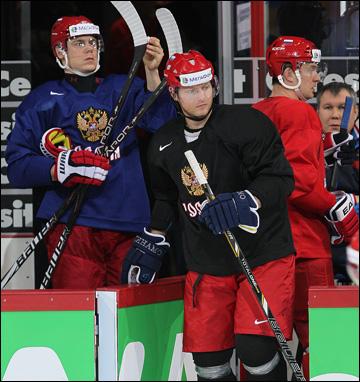 Утренняя тренировка сборной России