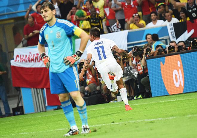 Эдуардо Варгас – герой матча Испания – Чили