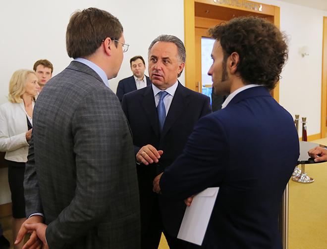 Максим Митрофанов, Виталий Мутко и Роман Бабаев