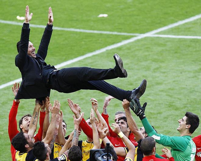 «Атлетико» выиграл чемпионат Испании и сыграет в финале Лиги чемпионов