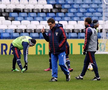Тренировка сборной России в Лондоне