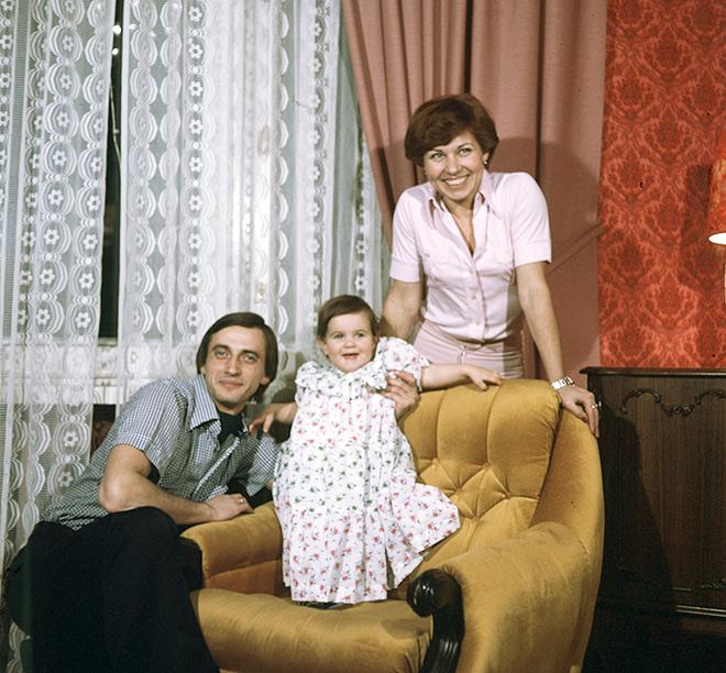 Людмила Пахомова и Александр Горшков с дочерью