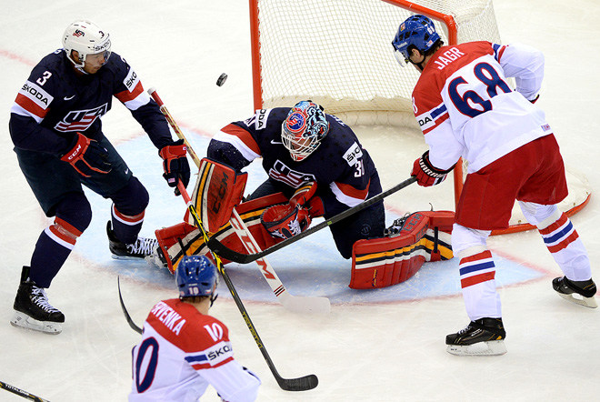 Фрагмент матч США — Чехия