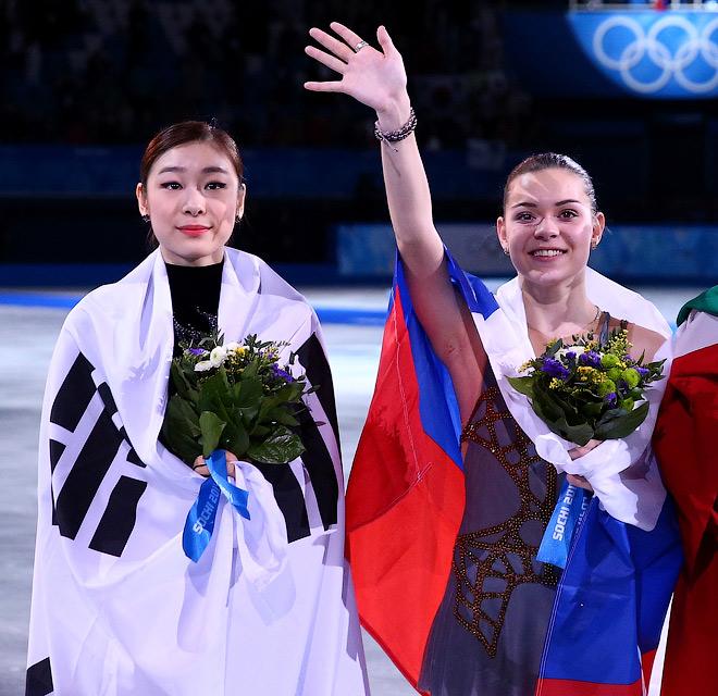 Ким Ю-На и Аделина Сотникова