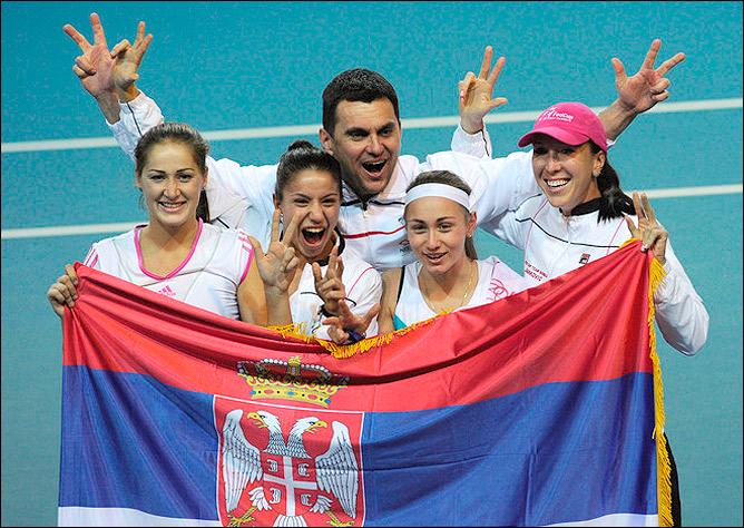 Сербки победили, несмотря на холод