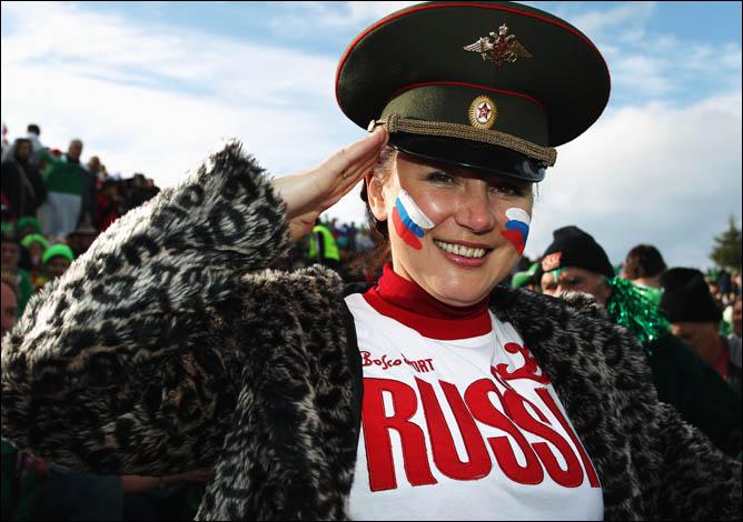 Сборная России не остаётся без поддержки даже на краю света
