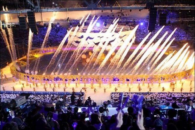 Церемония открытия зимних Азиатских игр 2011 года.