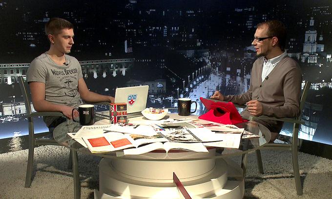 "Виталий Магранов и Роман Чернявский в программе ""Трибуна"""