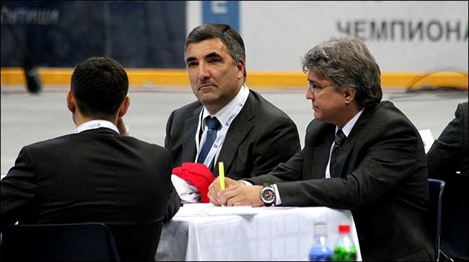 Мытищи. Леонид Вайсфельд на драфте КХЛ 2011 года