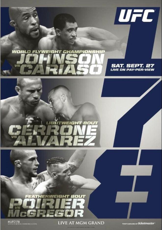 Постер к турниру UFC 178