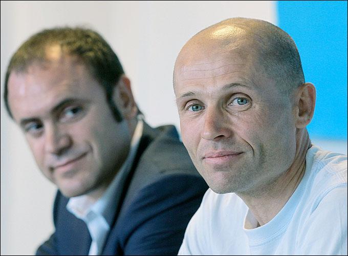 Президент Кравцов и тренер Полтавец
