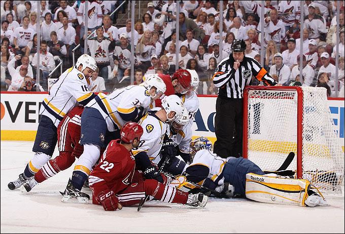 "30 апреля 2012 года. Глендейл. Плей-офф НХЛ. 1/4 финала. ""Финикс Койотс"" — ""Нэшвилл Предаторз"" — 5:3"