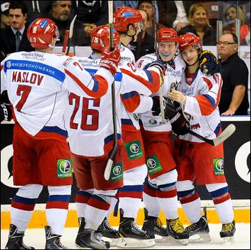 Сборная России уже к 7-й минуте вела в счёте 2:0