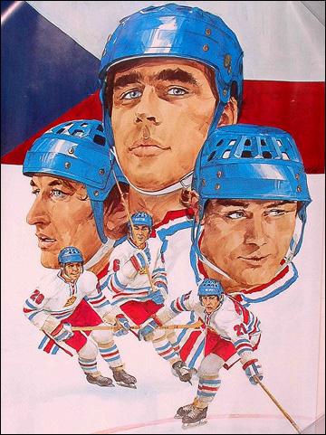 Афиша сборной Чехословакии, посвященная Кубку Канады 1976 года