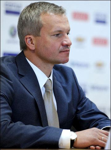 Владимир Кречин на пресс-конференции, посвященной драфту-2012