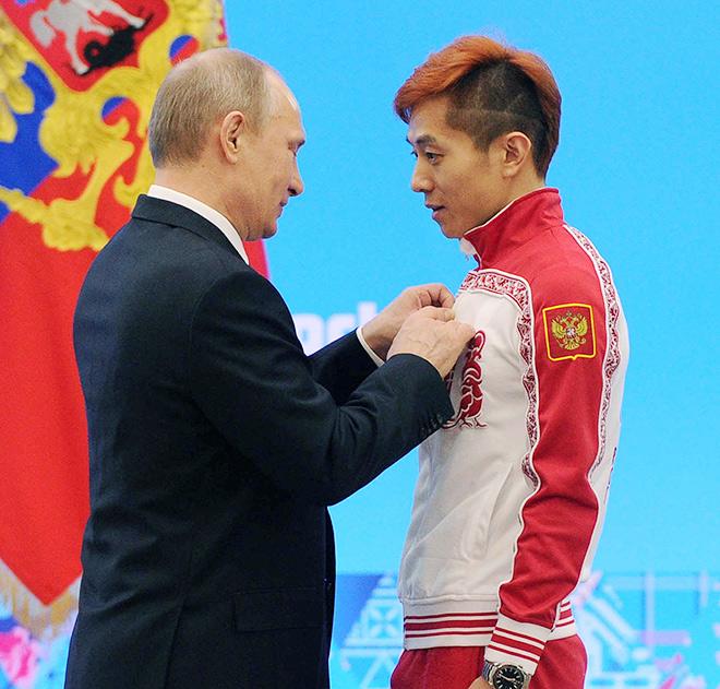 Владимир Путин и Виктор Ан
